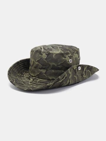 Chapeau de pêcheur en coton camouflage