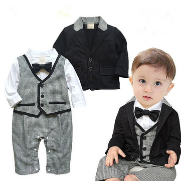 2Pcs Formal Boy Romper Coat 6M-36M