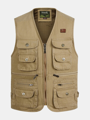 Cotton Multi Pockets Vest