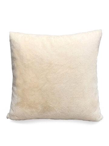 Nordic Simple Solid Color Rabbit Fur Plush Pillow Home Bedroom Pillowcase