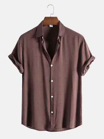 Рубашки из чистого хлопка на пуговицах