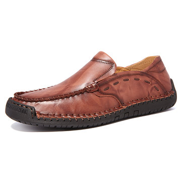 Large Size Men Hand Stitching Leather Shoes