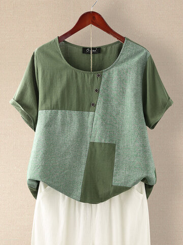 Patchwork Casual T-shirt