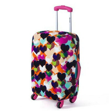 Washable Luggage Cover Colorful Elastic Suitcase Cover