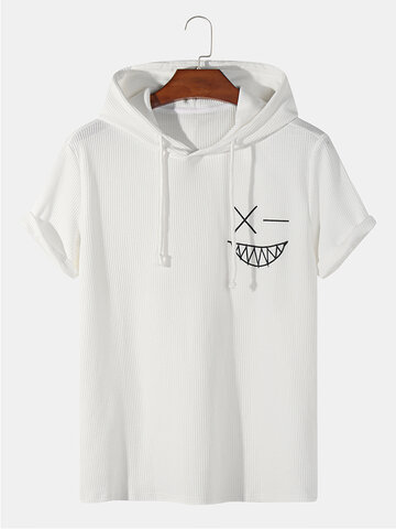 Knitted Smile Embroidery T-Shirt