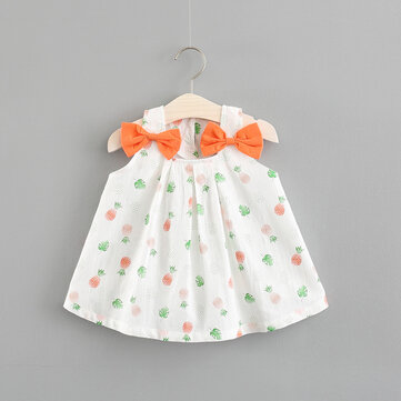 Bowknot Baby Girls Dress For 0-24M