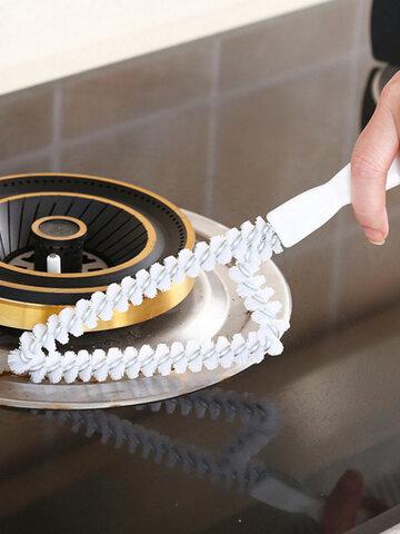 家庭用多機能ロングハンドルトライアングルドアウィンドウギャップブラシハンドヘルドストーブ除染ブラシ