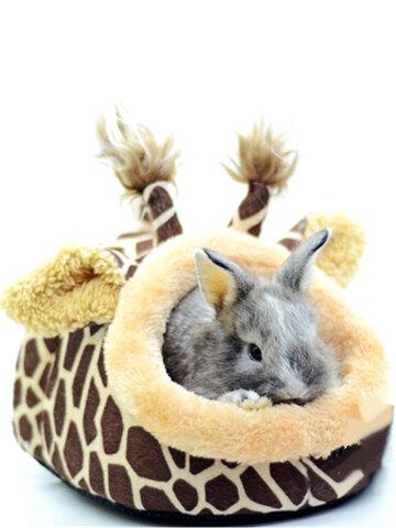 キリン型の小さな動物のベッドの巣
