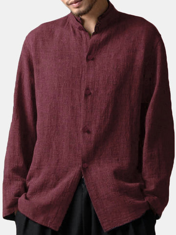 Men Linen Loose Casual Shirt