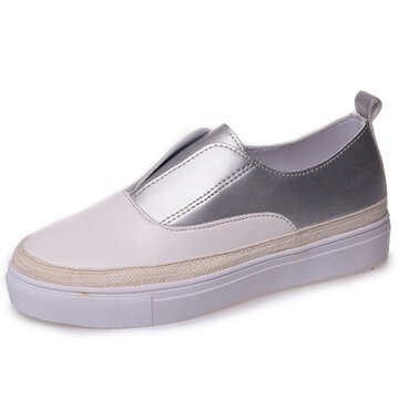 Color Blocking Casual Slip On Flat Shoes For Women
