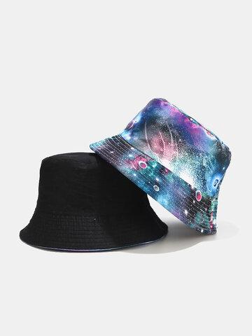 Graffiti Galaxy Fisherman Hat Women's Cotton Basin Hat