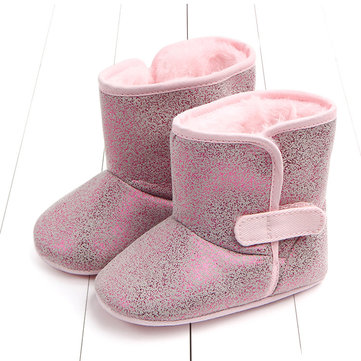 Shinning PU Upper Kids Warm Boots For 0-18 Months