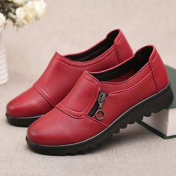 Stitching Pure Color Flat Shoes