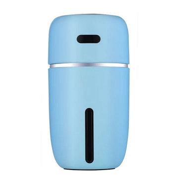 LED Ultrasonic Air Humidifier, Black blue pink white