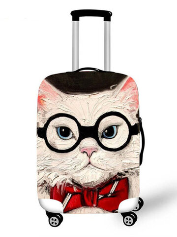 Personalized Cat Luggage Case Protective Cover  Waterproof