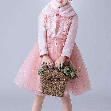 Flower Girl Dress + Fur Collar 3Y-13Y