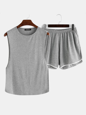 Plus Size Loose Breathable Plain Loungewear