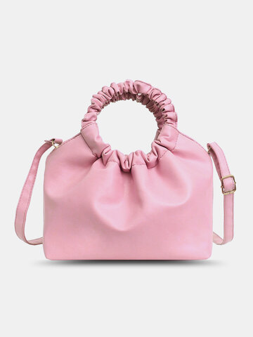 PU Leather Ruched bag