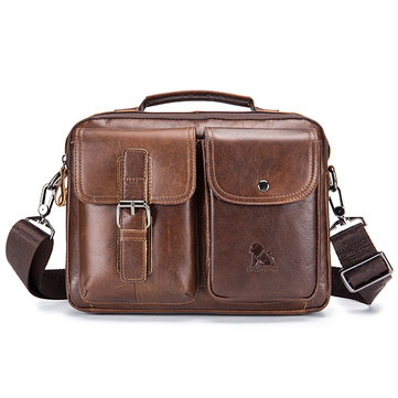 Vintage Genuine Leather Crossbody Bag Handbag For Men