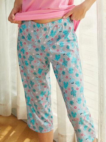 Pijama de letras de cactus de dibujos animados