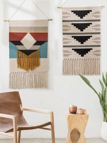 Hanging Cloth Tassel Tapestry  Hand-woven Tassel Hanging Art Tassel Tapestry