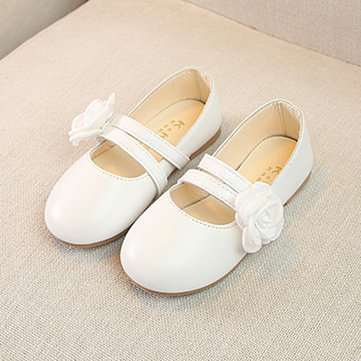 Girls Flower Decor Dancing Flat Shoes