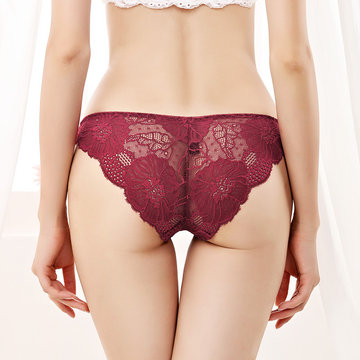 Sexy Low Rise Lace Seamless Panties