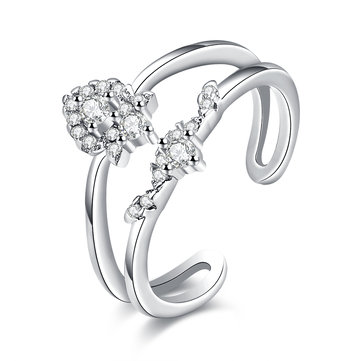 INALIS Sweet Ring Heart Zircon Luxury Elegant Ring