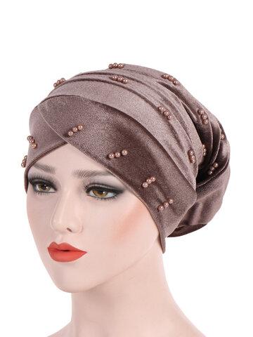 Casquette musulmane en velours perlé