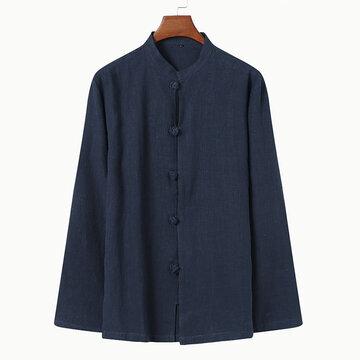 Camicia in cotone tinta unita