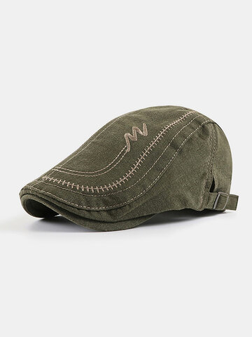 Men Cotton Letter Embroidery Cap Outdoor Leisure Wild Forward Hat Flat Cap
