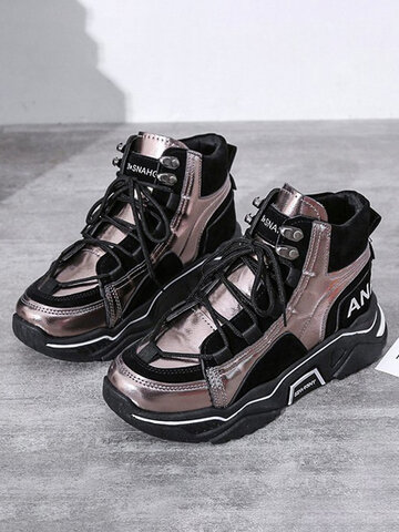 Casual Round Toe Chunky Sneaker Shoes