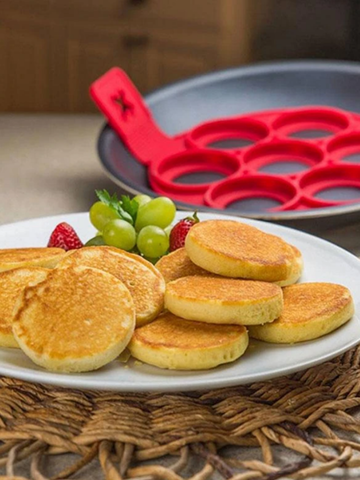 7-Hole Pancake silicone Mold Round Omelette Mold