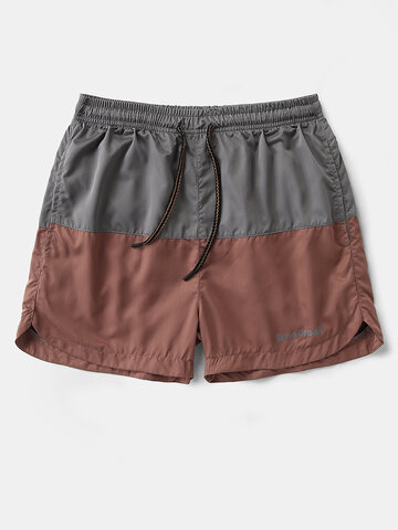 Two Tone Patchwork Twill Sport Shorts