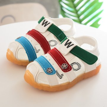 Boys Color Match Hollow Beach Sandals