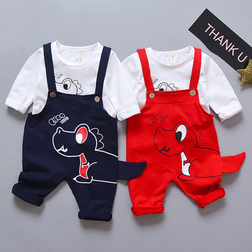 2pcs Dinosaur Pattern Baby Set For 6-36M