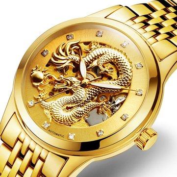 POLOBOSS Relógio Mecânico com Dragão