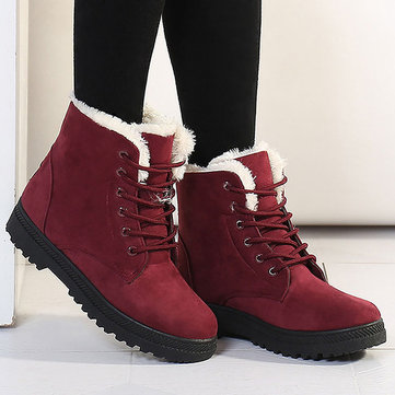 Warm Flat Ankle Boots, Blue yellow black gray red
