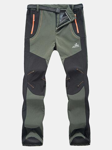 Uomo Pantaloni Sportiv all'Aperto Impermeabli ad Asciugatura Rapida
