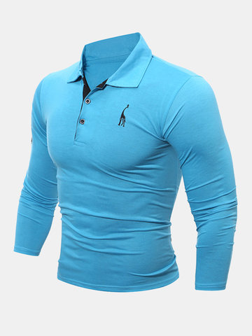 Mens Spring Fall Casual T-shirt Golf Shirt