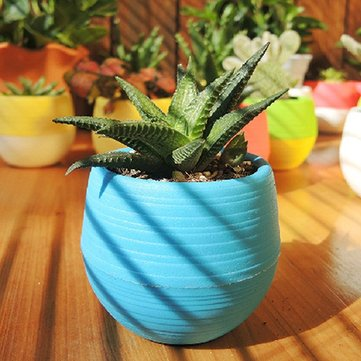 Honana HG-GP2 Colorful Cute Plant Flower Pot Mini Plastic Ro