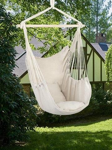 Garden Portable Travel Camping Hanging Hammock Swing Chair Thicken Outdoor