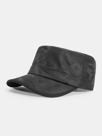Men Obscured Lines Military Hat