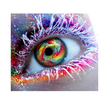 5D DIY Full Diamond Colorful Eyes Painting