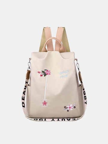 Oxford Embroidery Waterproof Ethnic Anti-theft Backpack