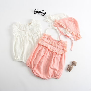 Girls Romper with Hat Set For 0-36M