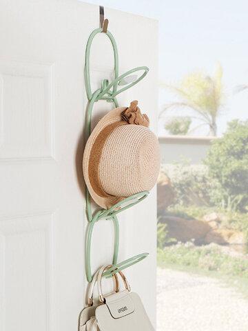 6 Pcs Multifunctional Clothes Hat Storage Rack Home Door Back Wall Hanging Scarf Tie Hanger