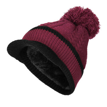 Women Outdoor Sport Warm Beanie Cap With Collar