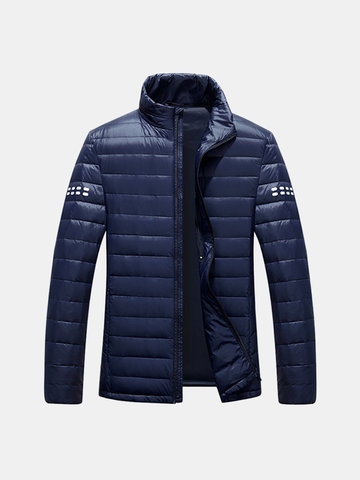 Mens Zip Pocket Printing Lightweight Down Jackets