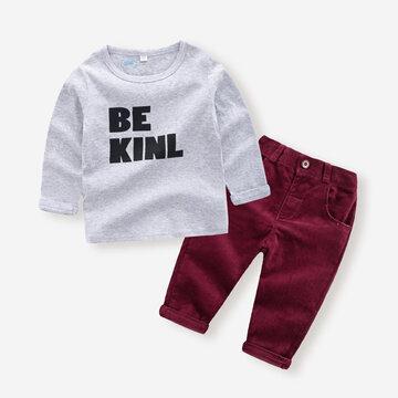 طقم سروال سروال قصير للأولاد لعمر 1-7 سنوات